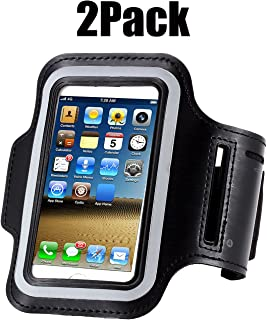 [2pack] IPhone X /8 / 7 / 6S / 6 / 5S / 5c SPORTS Armband,CaseHQ case Great for Running,Workouts or any Fitness Activity, strap for Stores Cash, Cards and Keys. Fits smartphone 4.5