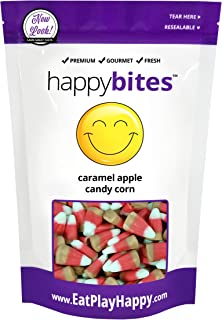 Happy Candy Caramel Apple Candy Corn - Gluten Free, Fat Free, Dairy Free - Resealable Pouch (1 Pound)