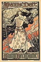 Jeanne d'Arc Sarah Bernhardt Alphonse Mucha 12x18-inch Paper Giclée Print