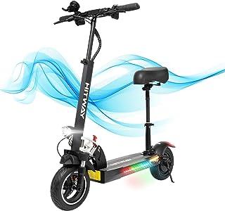 HITWAY Elektrisk skoter, E-skotrar med säte snabb, 800 W, max hastighet 45 km/h, 40 km, hopfällbar elektrisk skoter med LC...