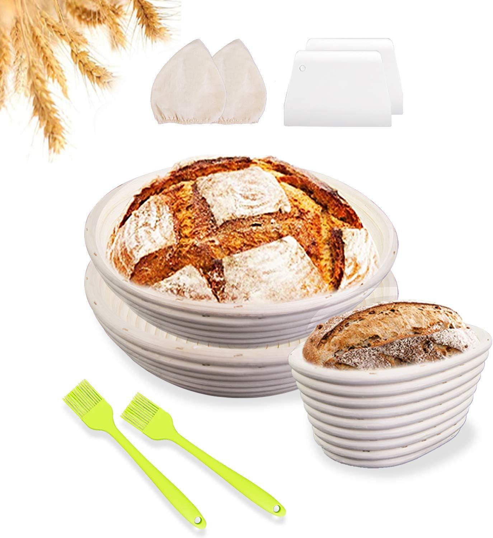 Bread Proofing Basket 迅速な対応で商品をお届け致します Set of 新品■送料無料■ 3 9 Banneton Inc - Baskets