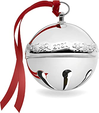 Wallace 51st Edition 2021 Silver Plated Sleigh Bell Ornament, Silver