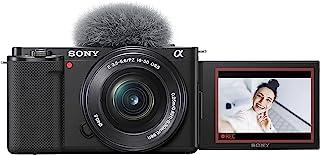 Sony Alpha ZV-E10L - Cámara vlog sin espejo de objetivos intercambiables con lente de kit Power Zoom de 16-50 mm f/3.5 - ...
