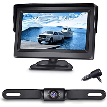 BONDWL Backup Camera and Monitor Kit For Car Universal Waterproof Night Vision Car Rear Backup Camera 4.3 LCD TFT Car Monitor DTV ELECTRONICS INC VP43E350