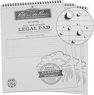 legal pad measurements