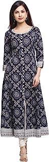 Yash Gallery Women's Cotton Regular Kurta