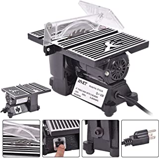 4 Inch Mini Electric Table Saw Tablesaw 8500 RPM Hobby And Craft Power Tools Miter Gauge And Two Slots For Precise Angle Cutting