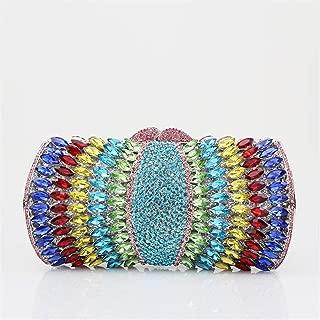 Redland Art Women's Fashion Sparkly Rhinestone Mini Clutch Bag Wristlet Evening Handbag Catching Purse Bag for Wedding Party (Color : A003)