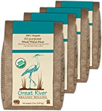Great River Organic Milling, Bread Flour Blend, All Purpose Whole Wheat, Stone Ground, Organic, 2-Pounds (Pack of 4)