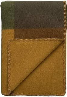 Roros Tweed Designer 100% Norwegian Wool Throw Blanket Syndin in Moorland