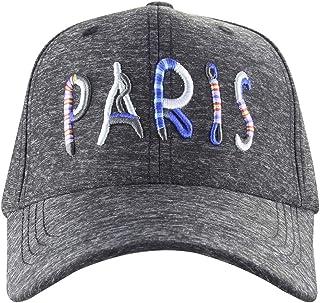 MINAKOLIFE Women's Paris Rainbow 3D Embroidered Sayings Adjustable Hat