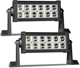 LED Light Bar TERRAIN VISION 6/7 Inch 36W Spot Beam Offroad LED Lights LED Work Lights for Trailer Boat SUV ATV Truck Jeep Wrangler Dodge Chevy Ford F150 F250 Tractor Toyota