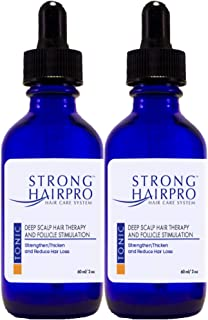 Strong Hairpro Hair Care System - Deep Scalp Hair Therapy Follicle Stimulation Anti-Hair Loss Treatment Strengthen Strands, Nourish Stem Cells, Reduce & Stop Hair Loss, Increase Volume, 60ml 2-Pack