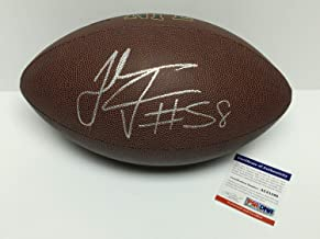 Thomas Davis Sr. Autographed Signed Memorabilia Wilson NFL Super Grip Football Panthers PSA/DNA Ac81598