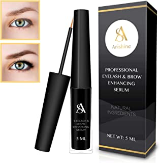 Arishine Eyelash & eyebrow growth serum - natural eyelash growth enhancer & brow serum, 1.1 Ounce