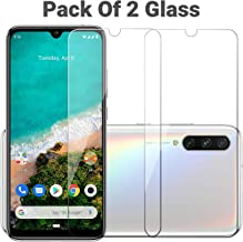 POPIO Tempered Glass Screen Protector For Xiaomi Mi A3 (Transparent) Full Screen Coverage Except Edges (Pack of 2)