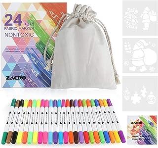 Zacro Rotulador Tela Permanente 24 Colores Marcadores