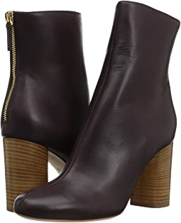M Missoni Solid Leather Bootie