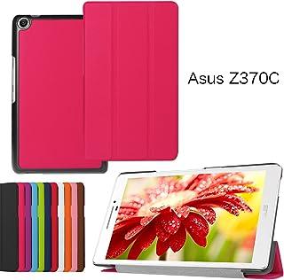 windykids ASUS ZenPad 7.0 Z370C ケース Z370KL/Z370CG カバー ローズレッド 3点セット 保護フィルム タッチペン スタンドケース