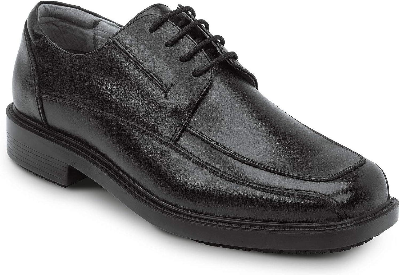 SR MAX Manhattan Men's Black Slip Resistant Dress shoes