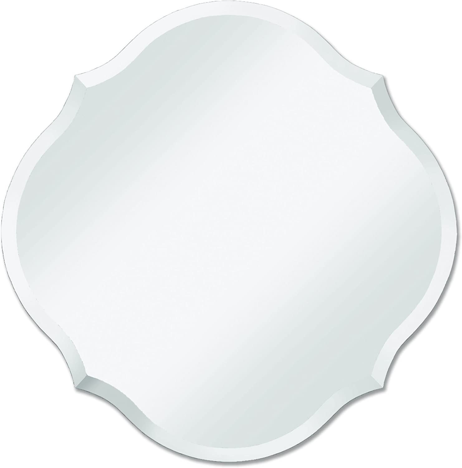 Frameless Mirror   Bathroom, Bedroom, Accent Mirror   Round with Scalloped Edges