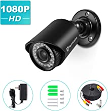 HeimVision Security Camera (Adapter& Cable Included), Compatible with HM245 Wired Camera System, 1080P Bullet Surveillance Camera with Night Vision, Motion Detection, IP66 Waterproof (Black)