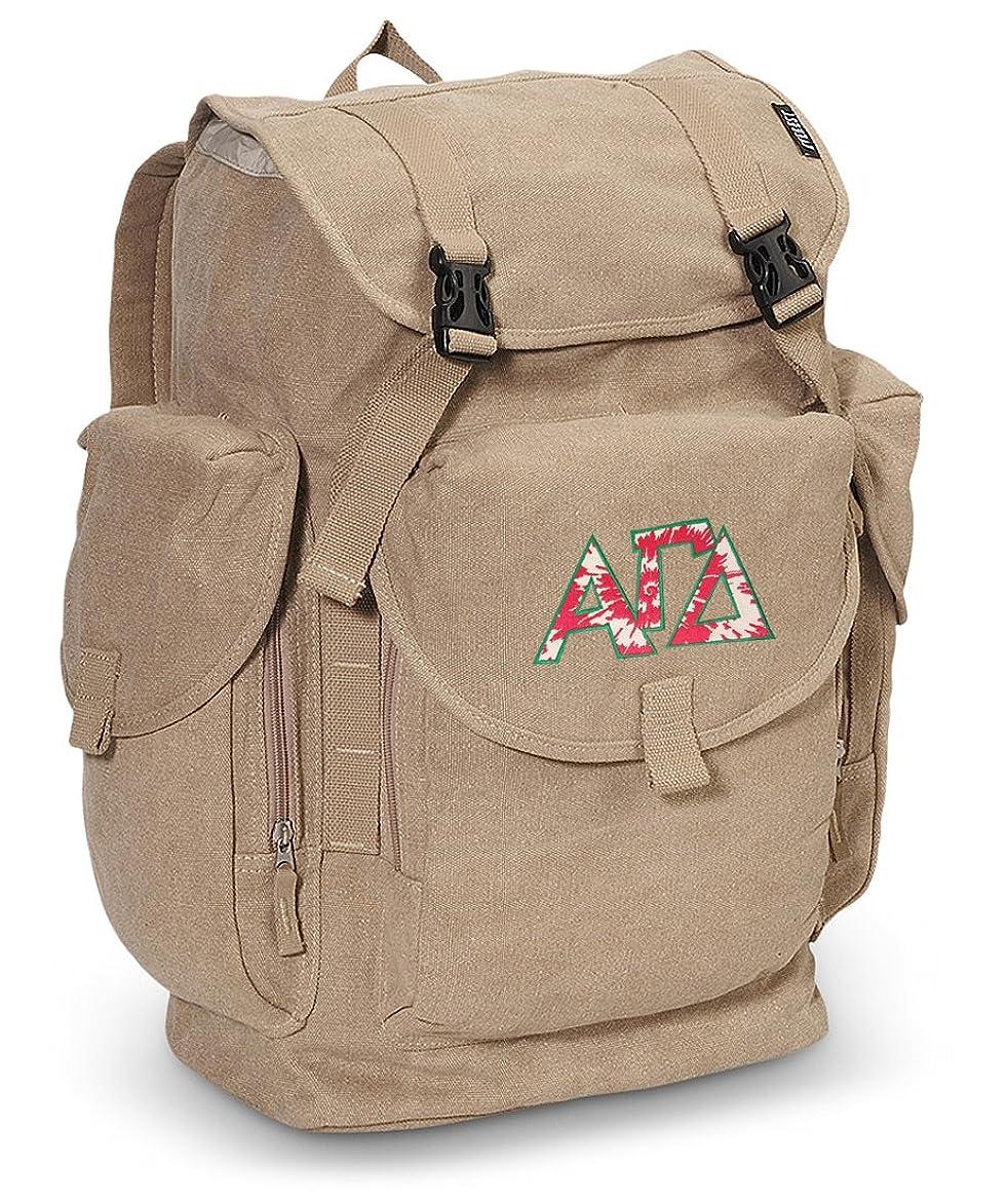 困ったロケーションテストアルファガンマ大キャンバスバックパックAGD Sorority学校や旅行バッグ