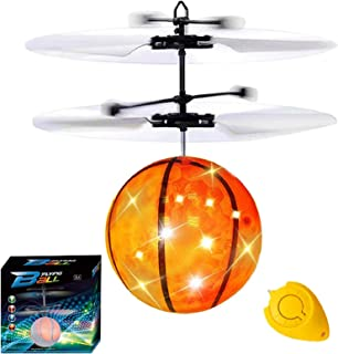 Camlinbo Flying Ball, Kids Flying Toys Hand Control Helicopter Mini Infrared Induction Drone Magic RC Flying Light Up Nove...