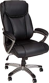 AmazonBasics Big & Tall Executive Computer Desk Chair, Black with Pewter Finish