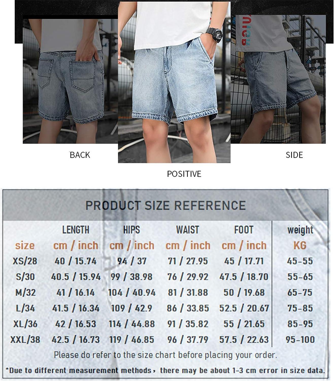 LZJDS Denim Jeans Shorts Men's Summer Cargo Shorts Straight 3/4 Pants Men's Hiker Shorts,Dark Gray,38