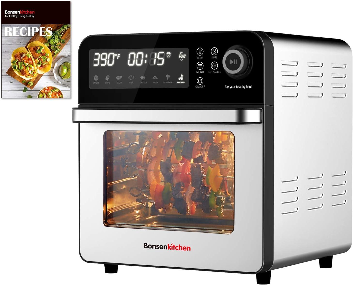Air Fryer Toaster Kansas City Mall Sacramento Mall Oven 1600W Bons 15.3QT 8-IN-1