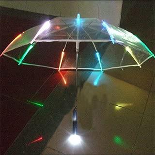 Reinhar New 7colors Changing LED Luminous Transparent Umbrella with Flashlight Function Un paraguas Led O Guarda - Chuva de Luz