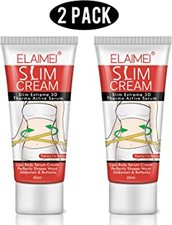 ELAIMEI Hot Cream (2 Pack), Body Fat Burning Cream, Weight Losing Cream, Anti-Cellulite Slim Massage Cream, Slim Cream for Shaping Waist, Abdomen and Buttocks.