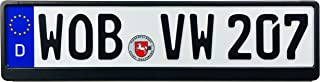 Z Plates Compatible with VW Wolfsburg Front German License Plate with Frame