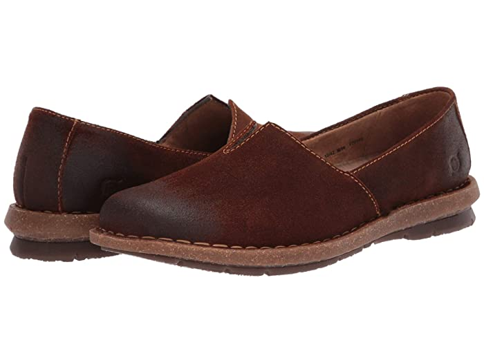 Born  Tropi (Brown Distressed) Womens Flat Shoes