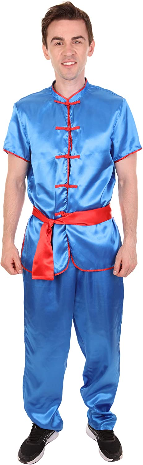 Men's New product! New type Traditional Kung Fu Max 44% OFF Medium Costume Blue International