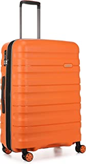 Antler Juno 2 4W Medium Roller Suitcase Hardside, Orange, 68cm