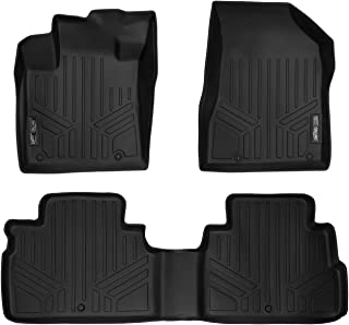 MAXLINER All Weather Custom Fit 2 Row Black Floor Mat Liner Set Compatible With 2015-2018 Nissan Murano (Does NOT Fit 2017.5 Models)
