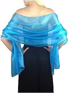 Elegant Bridal Wedding Silver Shawl Wraps Silky Scarves For Women Evening Wraps Party Wraps