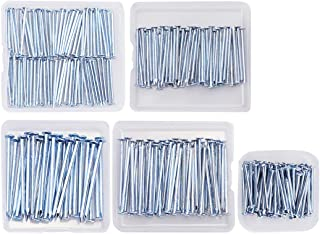 Sponsored Ad - 280pcs Hardware Nails Kit for Woodworking Brad Nails Galvanized Nails 5 Size Assortment - Includes Wire, Fi...