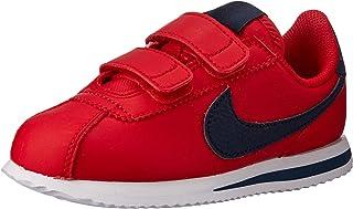 Nike Australia Cortez Basic SL (PS) Boys Trainers, University Red/Obsidian-White