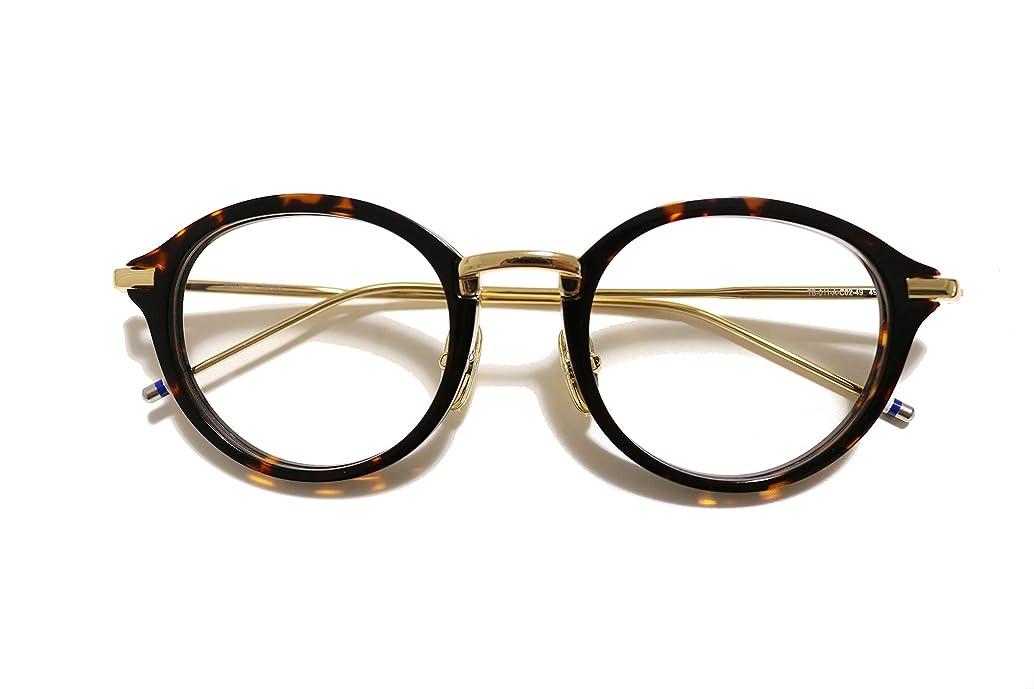 食堂前任者申し立てる【BlackWorks】TB011型 49サイズ メガネ おしゃれ伊達眼鏡 サングラス MADE IN JAPAN