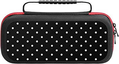 $26 » Black And White Polka Dot Case Compatible with Switch Case Protective Carry Bag Hard Shell Storage Bag Portable Travel Cas...
