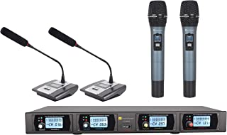 Martin Ranger 900MHz UHF 4-Channel Modules Wireless Microphone System with 2 Handheld Microphone and 2 Table Microphone