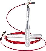 BRANK Sports® Regelbare crossfit springtouw | 3 kabels inbegrepen | Lichtgewicht aluminium snelheidskoord met premium kwal...