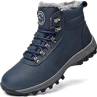 Sponsored Ad - Men Women Warm Snow Boots, Soft Warm Sole Fur Lined Waterproof Anti Klip Winter Ankle Hiking Climping Walki...