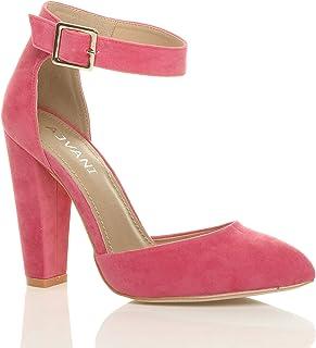 Amazon.co.uk: Pink - Court Shoes