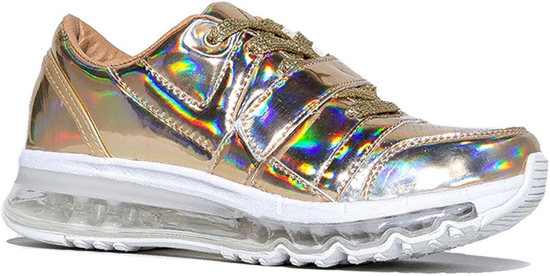 YRU Aiire, gold Hologram Sneaker