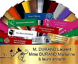 Zelfklevende pvc-brievenbusplaat, personaliseerbaar, 10 x 2,5 cm, 21 kleuren en 39 motieven verkrijgbaar (goud glanzend + ...