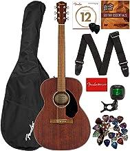 Fender CC-60S Solid Top Concert Size Acoustic Guitar Bundle with Gig Bag, Tuner, Strap, Strings, Picks, Fender Play Online...